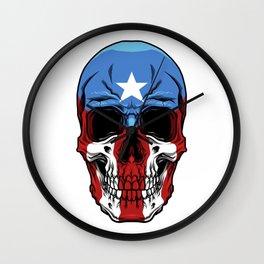 Puerto Rico Skull - Boricua Pride - Puerto Rican Wall Clock