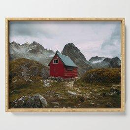 The Mint Hut in Hatcher Pass, Alaska Serving Tray