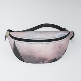 Bright Night Sky Watercolor Fanny Pack