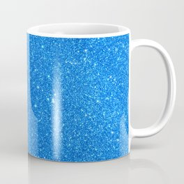 Blue Zircon December Capricorn Birthstone Shimmery Glitter Coffee Mug