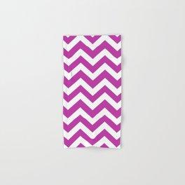 Byzantine - violet color - Zigzag Chevron Pattern Hand & Bath Towel