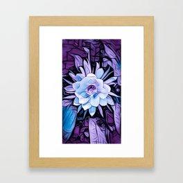 Purple Cereus Flower Framed Art Print