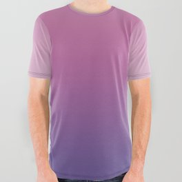 1f13a9cfebe Pink Ultra Violet Ombre Gradient Pattern All Over Graphic Tee