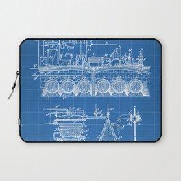 Brewing Beer Patent - Beer Art - Blueprint Laptop Sleeve