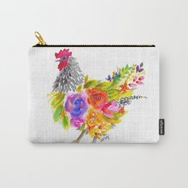 Watercolor Floral Chicken Carry-All Pouch