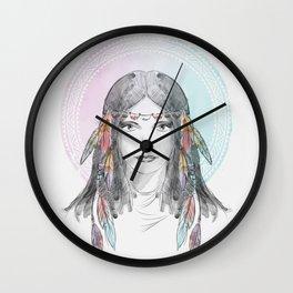 watercolor godess Wall Clock