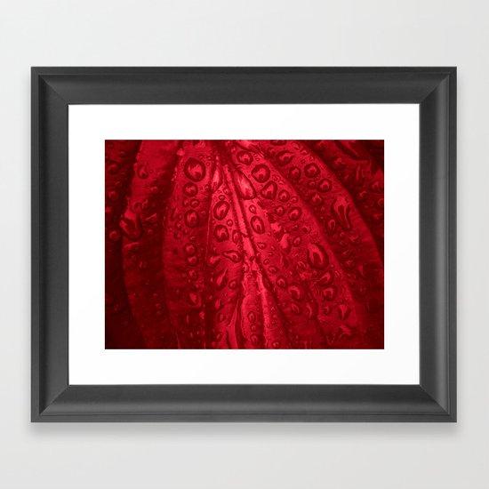 red passion I Framed Art Print