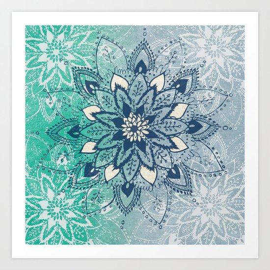 Mandala Fade  Art Print