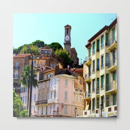 Lovely Le Suquet Cannes Metal Print