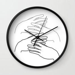 caressing hands Wall Clock