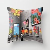 eugenia loli Throw Pillows featuring Natural History Museum by Eugenia Loli