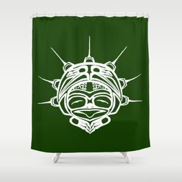 Spirit Frog Grass Shower Curtain