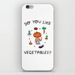 Do You Like Vegetables? iPhone Skin