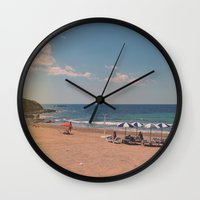 spanish Wall Clocks featuring Spanish Sunbathers by ZBOY