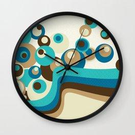 Abstract beach and waves Wall Clock