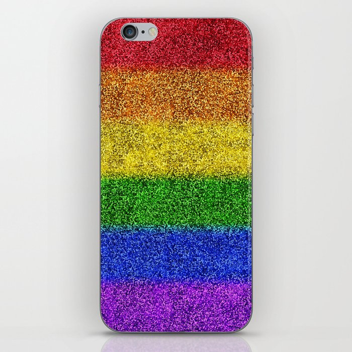 Rainbow Glitter Gradient iPhone Skin