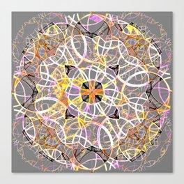 Mandala Gray Canvas Print