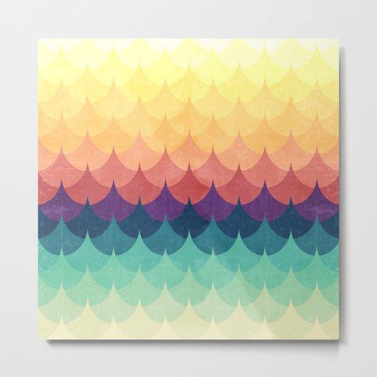 Sailing in Rainbow Waves Metal Print