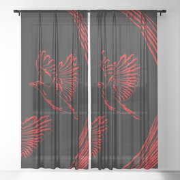Love birds for the heart and soul. Sheer Curtain