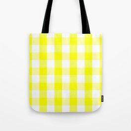 Vichy jaune Tote Bag