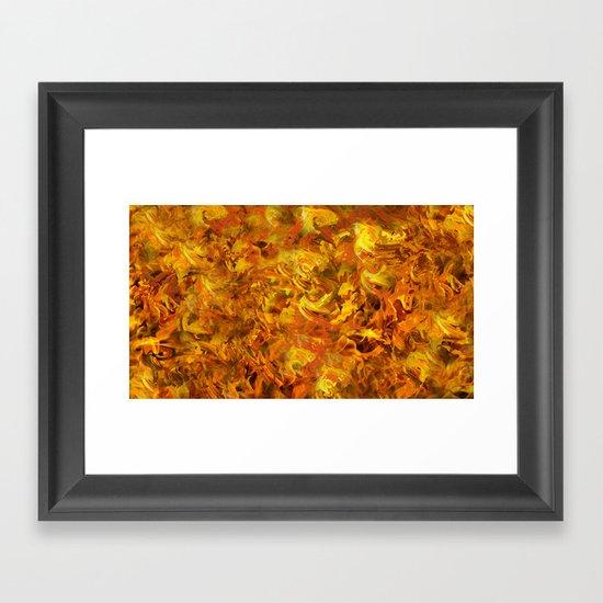 """""""Love Burns"""" Framed Art Print"""