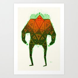 Yello Warrior Art Print