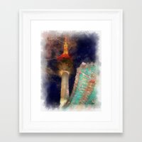 seoul Framed Art Prints featuring Seoul Tower by Marisa Johnson :: Art & Photography