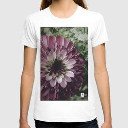 Purple PomPom Flower T-shirt