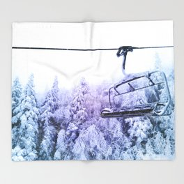 chairlift Throw Blanket