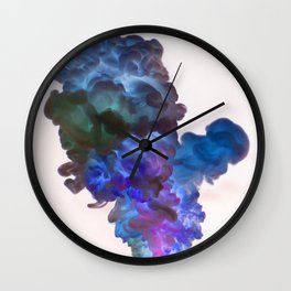 Abstract Smoke Wall Clock