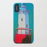 lighthouse iPhone & iPod Cases featuring Lighthouse by Judy Palkimas