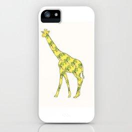 Giraffe Palm Tree iPhone Case
