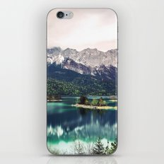 Green Blue Lake and Mountains - Eibsee, Germany iPhone & iPod Skin