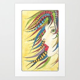 Delicious dreads Art Print