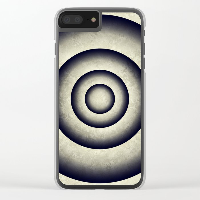 Minimal grunge 3D abstraction Clear iPhone Case