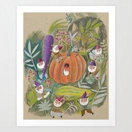 Heavy Lifting Garden Gnomes Art Print