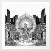 Demises: The Silver Hand Art Print
