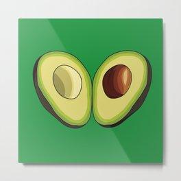 Avocado Heart Metal Print