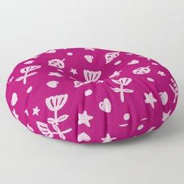 Dots & Doodles in Pink Floor Pillow