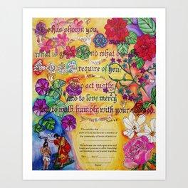 Certificate of Membership Art Print