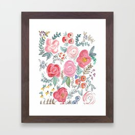 Watercolor Floral Print Framed Art Print