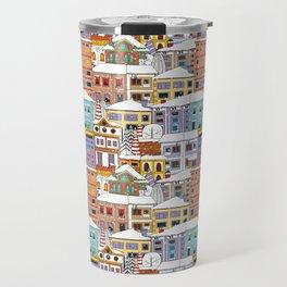 Winter town pattern Travel Mug