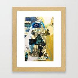 Blue Bird Escape  Framed Art Print