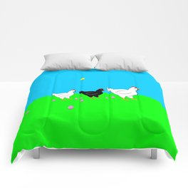 Hens and eggs Comforters