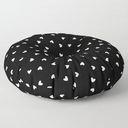 Kingdom of hearts - black and white pattern Floor Pillow