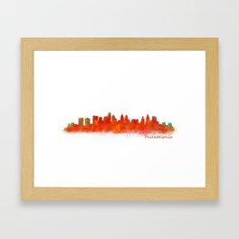 Philadelphia City Skyline Hq V2 Framed Art Print