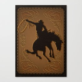 Leather Rodeo Cowboy Canvas Print
