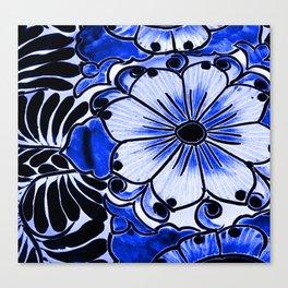 Indigo Blue Flower Canvas Print