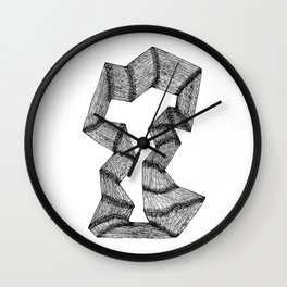 Joined Wood Wall Clock