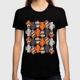 Modern striped cacti T-shirt